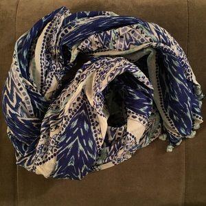 Stella and Dot capri wrap - indigo ikat